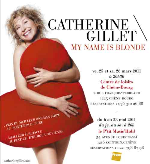 Spectacle de Catherine Gillet : My name is blonde - Affiche 2